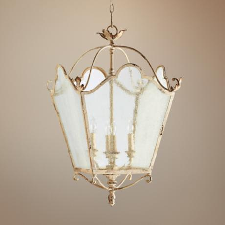 "Quorum Salento 4-Light 18 1/2"" Wide White Entry Chandelier"