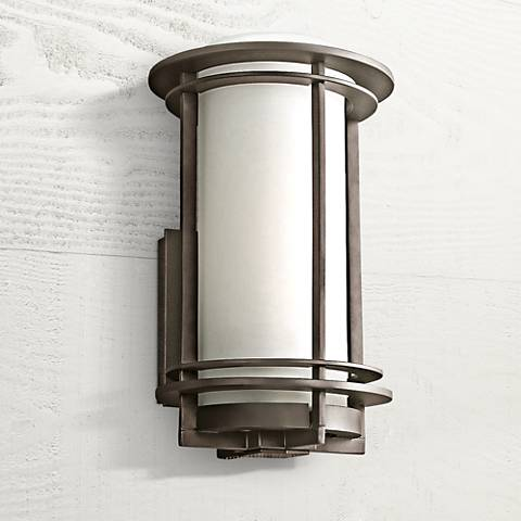 "Kichler Pacific Edge 13"" High Bronze Outdoor Wall Sconce"