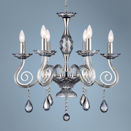 "Valenti 6-Light 22 1/2"" Wide Chrome Crystal Chandelier"