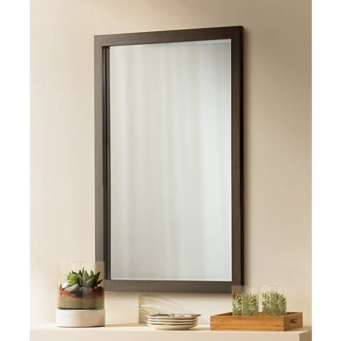 "Paradox 33"" High Bronze Wall Mirror"