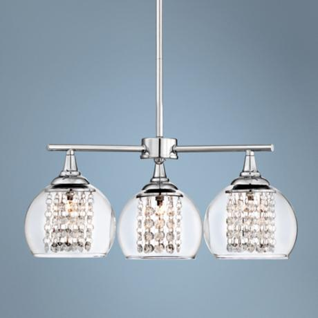 "Encircled Crystal 19 1/2"" Wide 3-Light Pendant Chandelier"