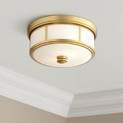"Harbour Point 13 1/2"" Wide Etched Opal Glass Ceiling Light"