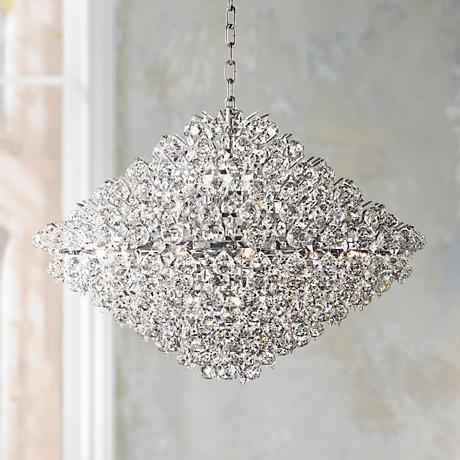 "Vienna Full Spectrum Essa 31 1/2"" Wide Crystal Pendant"