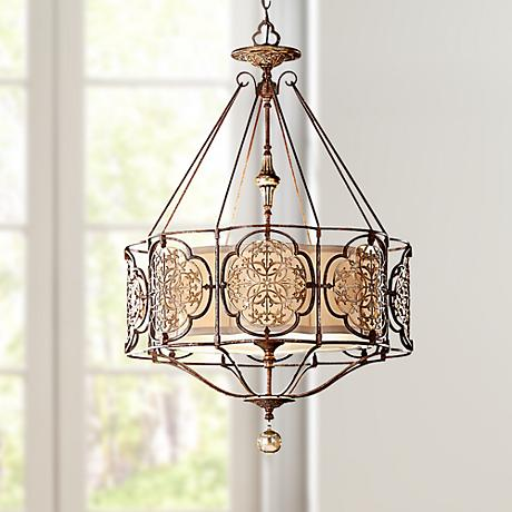 "Feiss Marcella 3-Light 21 1/4"" Wide Bronze Chandelier"