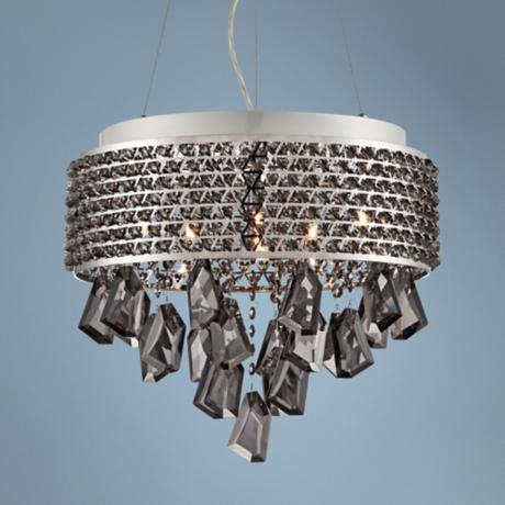 "Caroline 16 1/2"" Wide Chrome and Crystal Pendant Light"