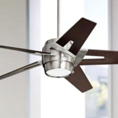 "54"" Emerson Luxe Eco Steel and Mahogany Ceiling Fan"