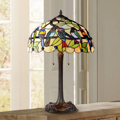 Tropical Birds Robert Louis Tiffany Table Lamp W7860