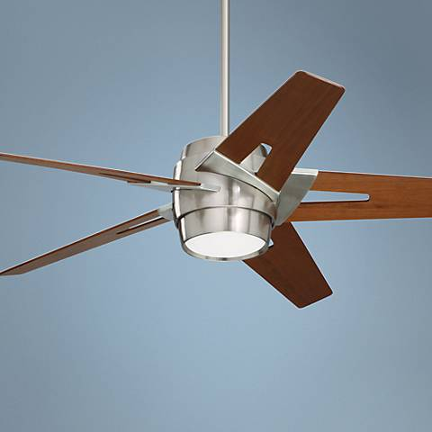 "54"" Emerson Luxe Eco Steel and Walnut Ceiling Fan"