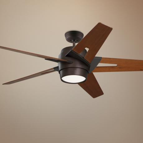 "54"" Emerson Luxe Eco Bronze and Walnut Ceiling Fan"