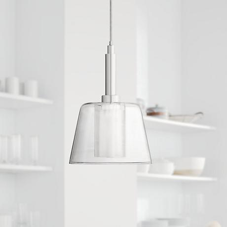 Vesper Glass and Chrome Mini Pendant Light