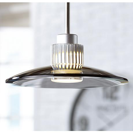 Possini Euro Design Smoky Black Glass LED Pendant Light