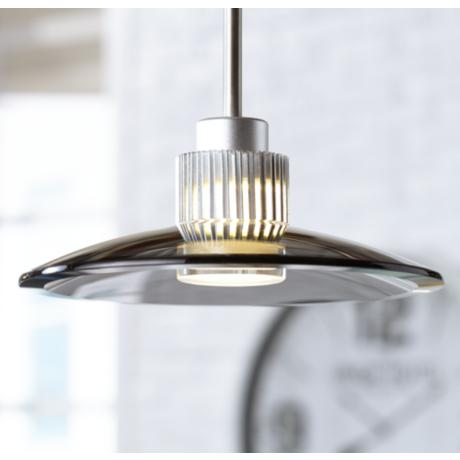 Smoky Black Glass LED Pendant Light