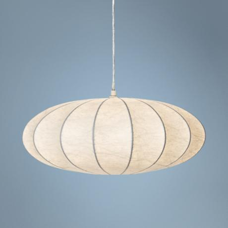"Possini Euro Cocoon 11"" Wide Matte White Pendant Light"