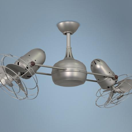 "40"" Matthews Dagny Nickel Double-Headed Ceiling Fan"