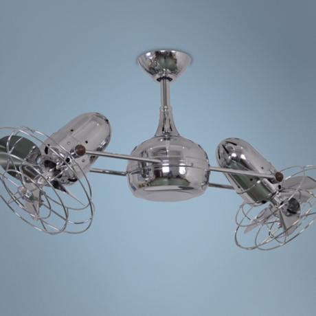 "40"" Matthews Dagny Chrome Double-Headed Ceiling Fan"
