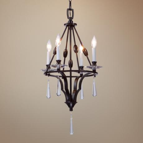 "Artcraft Balmoral 4-Light 16"" Wide Bronze Chandelier"