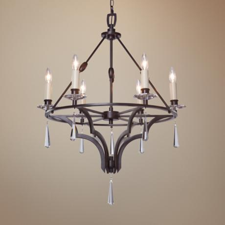 "Artcraft Balmoral 6-Light 27"" Wide Bronze Chandelier"
