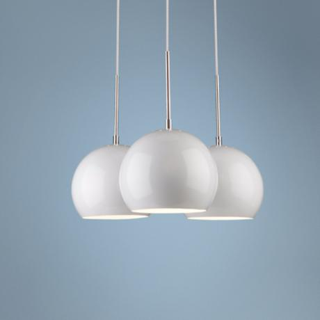 "Artcraft On the Spot 3-Light 18"" Wide White Pendant Light"