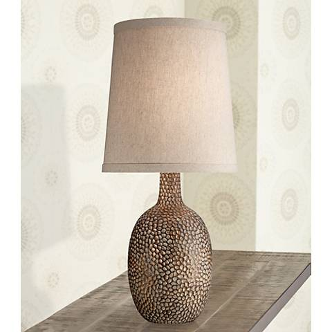 Chalane Hammered Antique Bronze Table Lamp W8642