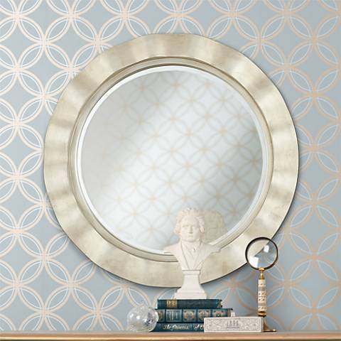 "Hill and Dale 32"" Wide Silver Wall Mirror"