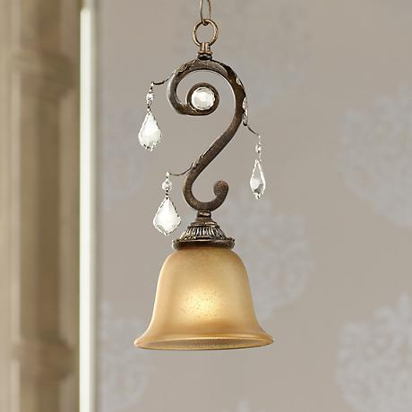 Kathy Ireland Ramas de Luces Bronze Mini Pendant