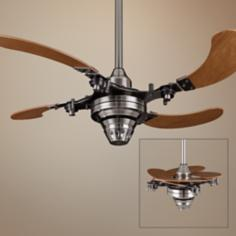"43"" Fanimation Air Shadow Mechanical Pewter Ceiling Fan"