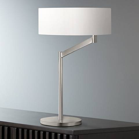 Sonneman Perch Satin Nickel Desk Lamp