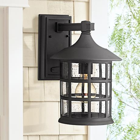 "Hinkley Freeport Black 12 1/4"" High Outdoor Wall Light"