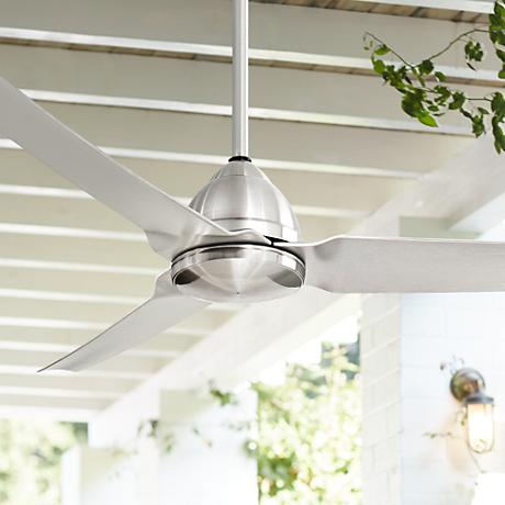 54 Quot Minka Aire Java Nickel Indoor Outdoor Ceiling Fan