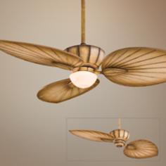 "52"" Minka Aire Terrana Bahama Beige Ceiling Fan with Light"