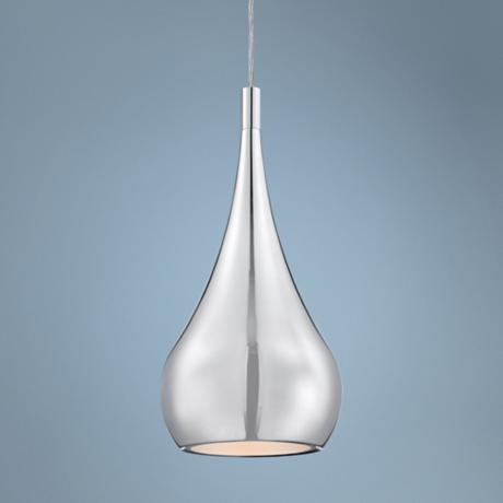 "Possini Raindrop 9 1/2"" Wide Chrome Mini Pendant Light"