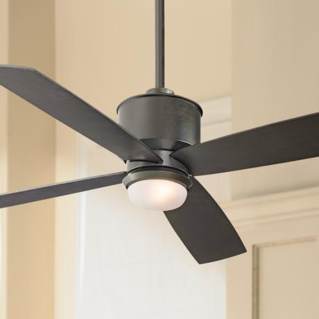 "52"" Minka Aire Strata Smoked Iron Ceiling Fan with Light Kit"