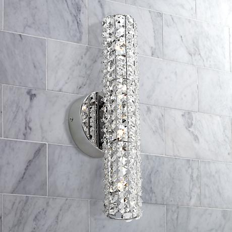"Possini Euro Design 16 1/2"" Wide Crystal Bath Light"