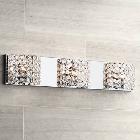 "Cesenna 3-Light 25 1/2"" Wide Crystal Bath Light"