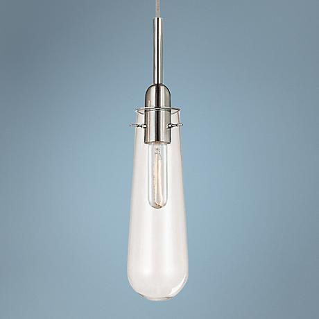 "Sonneman Teardrop 4"" Wide Polished Chrome Mini Pendant"