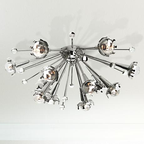 jonathan adler sputnik flush mount nickel ceiling light. Black Bedroom Furniture Sets. Home Design Ideas