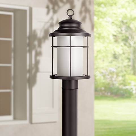 "Warburton 16 1/2"" High Black LED Outdoor Post Light"