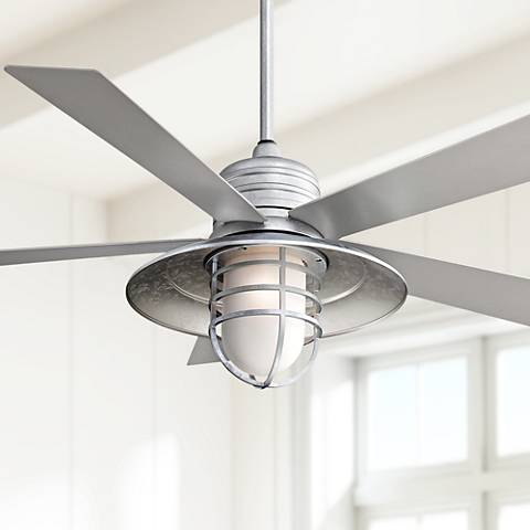 "54"" Minka Aire Rainman Galvanized Ceiling Fan"