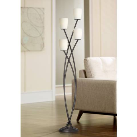 Kathy Ireland Metro Crossing Uplight Floor Lamp X2236