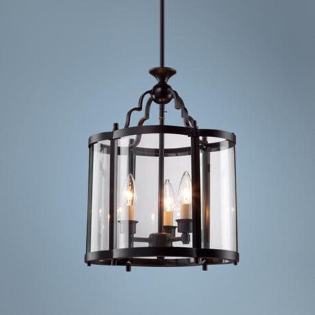 "Artcraft Estate 17"" High Dark Bronze Pendant Light"
