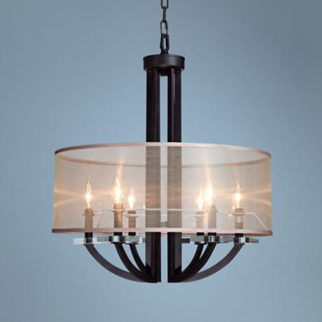"Artcraft Stowe 24"" Wide Oil Rubbed Bronze Pendant Light"