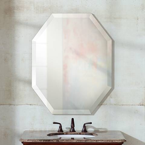 "Feiss Infinity 30"" High Octagonal Wall Mirror"