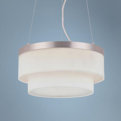 "Forecast Channel LED 13"" Wide Satin Nickel Pendant Light"