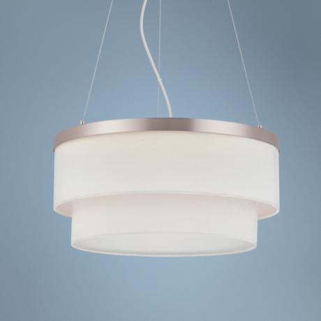 "Forecast Channel LED 17"" Wide Satin Nickel Pendant Light"