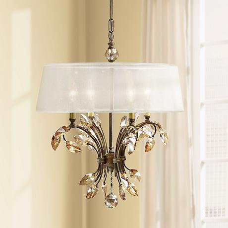 "Uttermost Alenya 4-Light 21"" Wide Burnished Gold Chandelier"