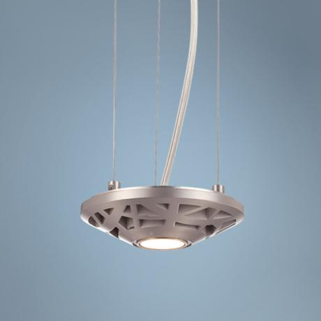 "Forecast Amsta LED 5"" Wide Satin Nickel Mini Pendant"