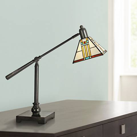 Dale Tiffany Mission Bank Adjustable Desk Lamp