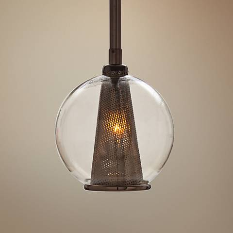 "Arteriors Home Caviar 6"" Wide Brown Nickel Mini Pendant"