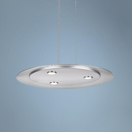 "Ledino 3-Light 19 3/4"" Wide Chrome Disc Pendant Light"