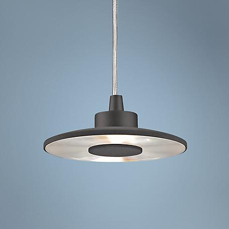 "Galaxy Grey 5 1/2"" Wide LED Mini Pendant Light"